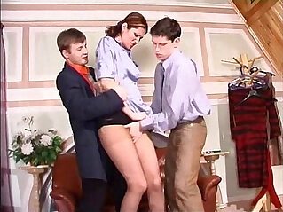 tall european secretary get roughed