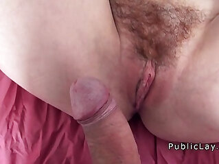 Hairy redhead picked up in public