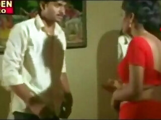 red saree aunty seducing hot