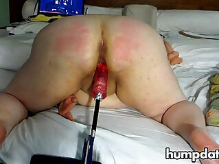 BBW gets fucked and spanked