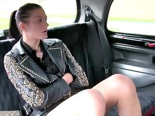 Public blowjob for euro slut for a free ride