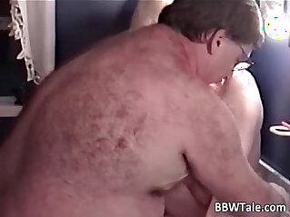 Blonde mature slut is fucked by fat