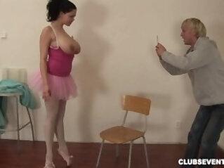 Huge breasted ballerina fucking hard
