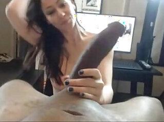 Beautiful white lady serves big black cock