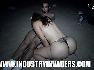 Industry Invaders Carmen Ross Beach scene