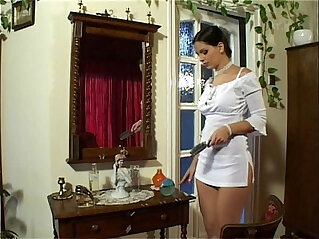 Eve Angel in Short White Dress Masterbates