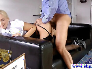 doggy - Teasing babe doggystyle banged by geriatric
