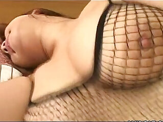 Chubby Japanese cutie rides a hard cock