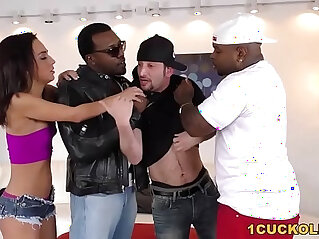 Amara Romani Double Penetrated by BBCs Cuckold Sessions