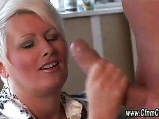 Clothed cfnm femdoms cock to suck and cumshot