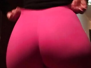 old pawg wife wearing leggings
