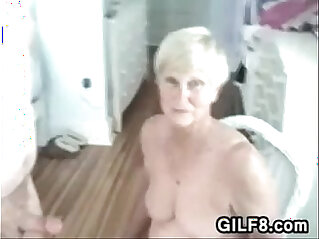 Naughty Granny Gives Her Man A Blowjob