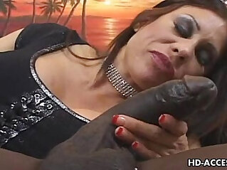 Mature takes on big black cock
