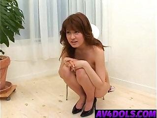 Kaori exposes her hot tits sucks boner and balls