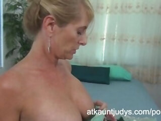 Macy Maddison fucks her shaved pussy stuffed with a vibrator