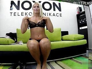 Glamour girl striptease