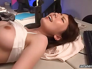 Slutty wife fucked in the office and creamed in