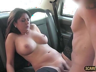 Alluring european brunette gets awarded a hot cum