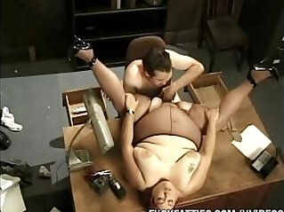Fat Secretary Fucks with her Boss On Office Table