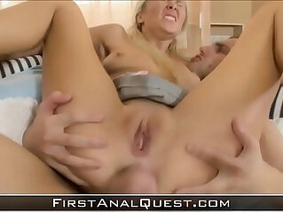 Young Mickey Moor gets her virginal ass gaped