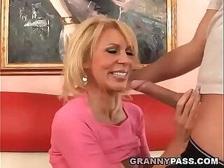 Busty Cougar Fucks Young Dick