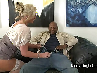 Horny cougar has a thing for huge black monster cocks