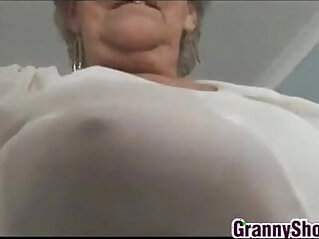 grandma - Grandma Teasing Pussy play With Panties