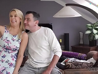Sleepy guy missed how his father fucks his girlfriend