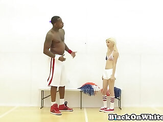 bbc - BBC loving cheerleader railed by black guy