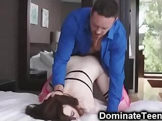 Stepdad Punish Fucks Helpless Teen!