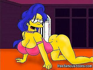Marge Simpson hentai parody