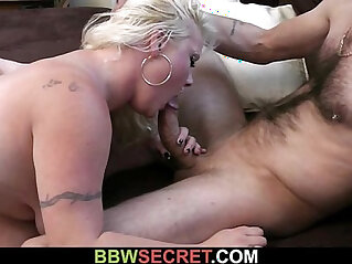 He cheats with their sexy blonde plumper