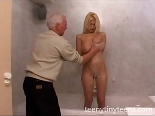 Blond Teen And Old Man