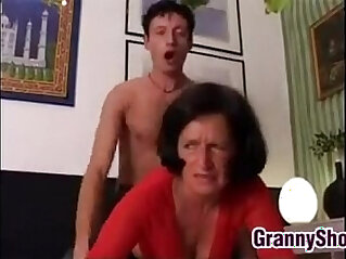 Grandma Wants It Hard Rough On The Bed