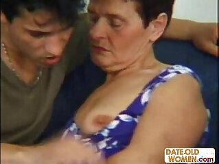 70 year old grandma seduce younger