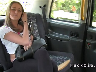Fake driver licks young customer in public