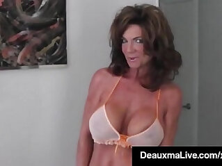 Hot Blooded Cougar Deauxma Dildo Fucks Her Pussy Squirts!