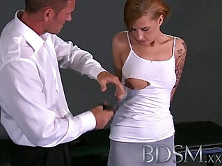 domination - BDSM XXX First timer slave girls learn things the hardcore way