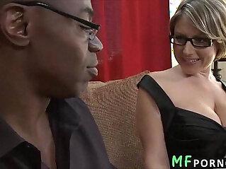 Teacher with sexy glasses tries big black dick Velicity Von