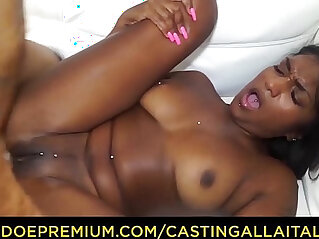 CASTING ALLA ITALIANA Interracial anal with Indian babe